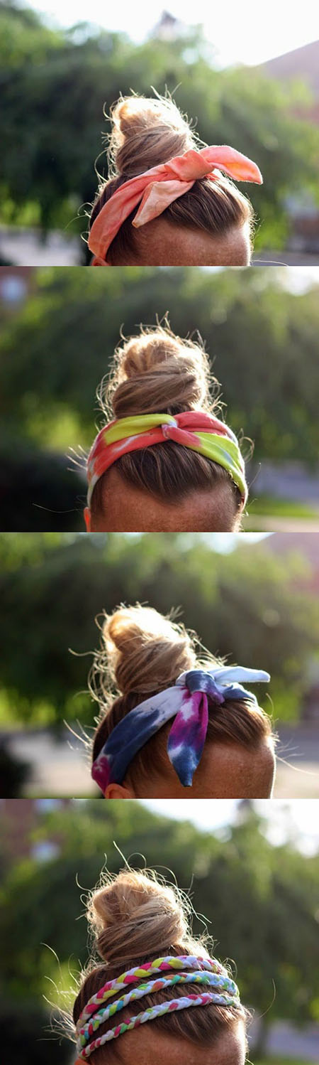 11 DIY Tie Dye T-Shirt Headbands 094c757
