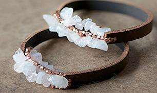 Diy Leather Braid Strands Bracelet