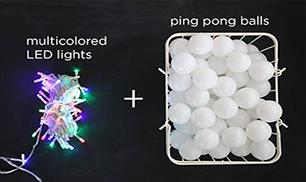 Beautiful Ping Pong Ball Craft