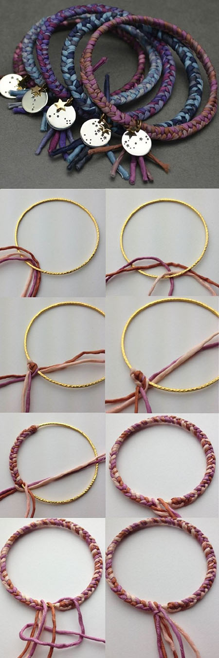 22  DIY colorful braided bangled29ec4