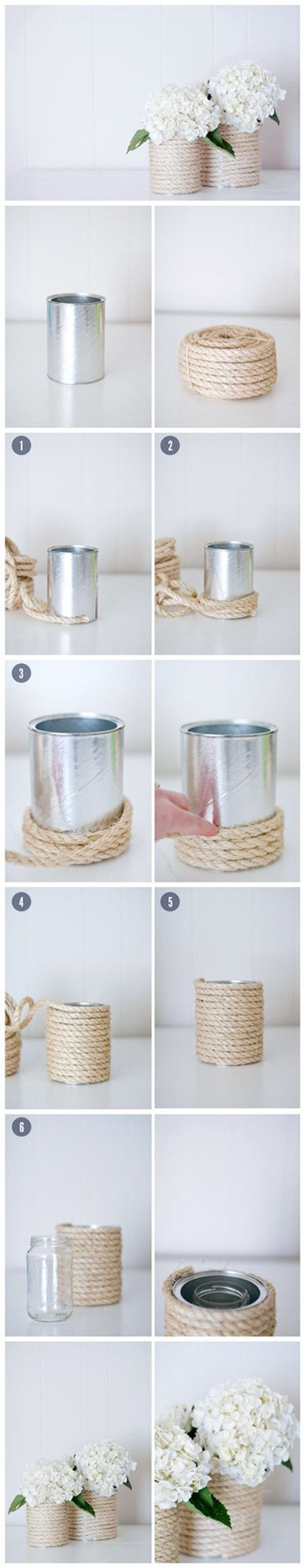 3 Rope covered coffee cans255222f4e