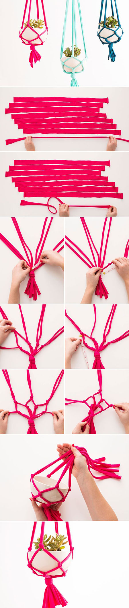 5 DIY your own macrame hanging vasef