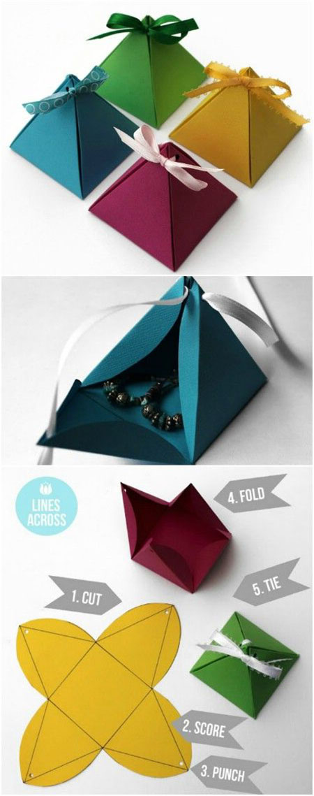 8 Origami pyramid gift boxes3f4fc53c365ec7