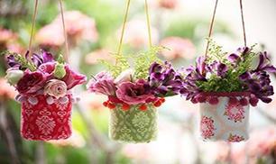 DIY Cute Plastic Bottle Hanging Vase