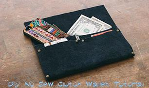 Diy No Sew Clutch Wallet