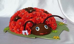How to Make Chocolate Floral Ladybug Bouquet
