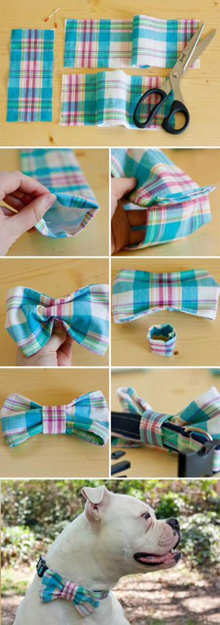 10 DIY Dog Collar Bow Tie670e44