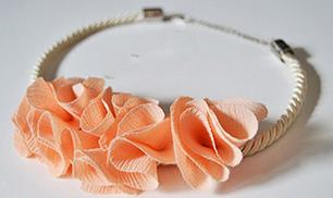 DIY Fashion Flower Necklace