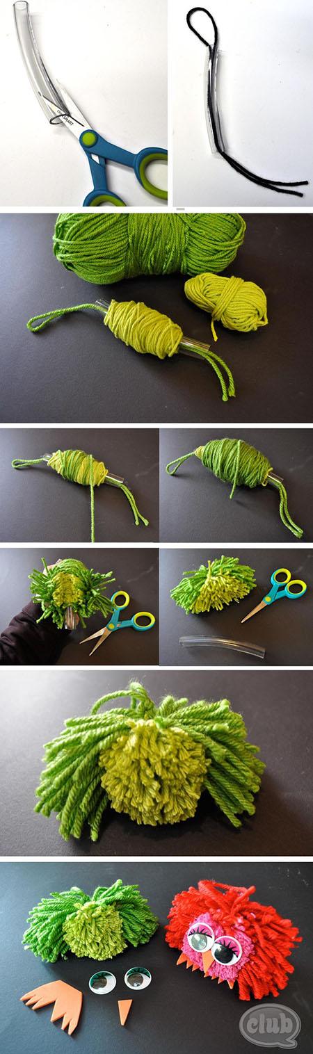 10  DIY Pom Pom Owlsd4c0bd