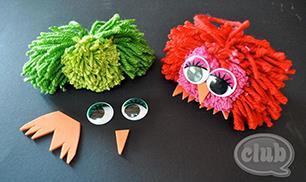 DIY Pom Pom Owl