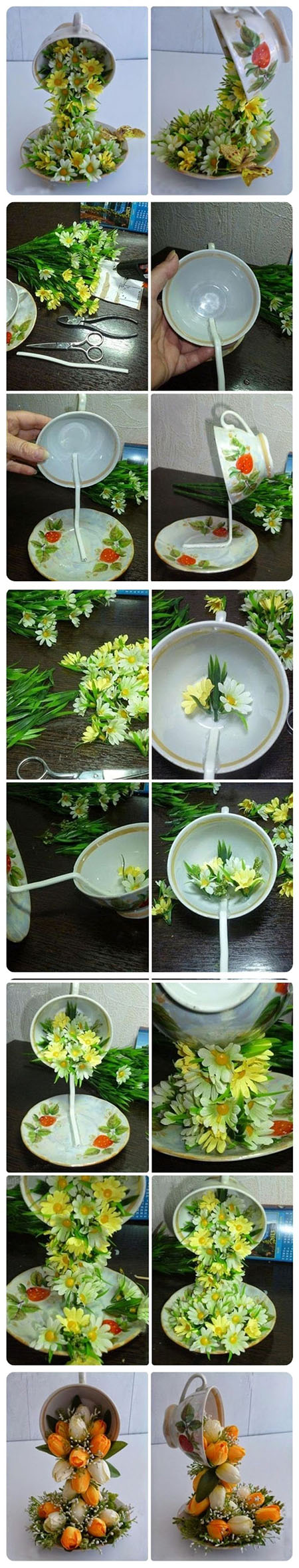 10  DIY Topiary Flower Flying Cup Decorationse25a03