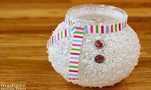 Epsom Salt Snowman Vase