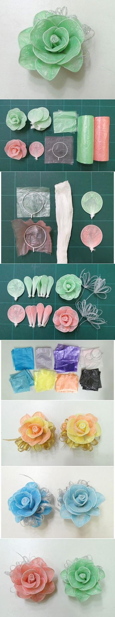 11   DIY Hair Roses Made from Colored plastic and Twist Ties a6331a6e
