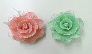 Diy Flowers Made from Colored plastic and Twist Ties
