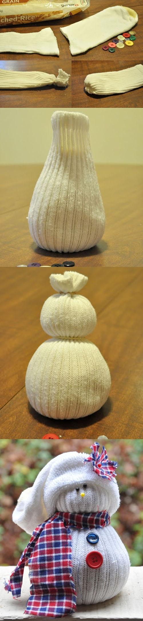 11 DIY sock snowmen4b8b7