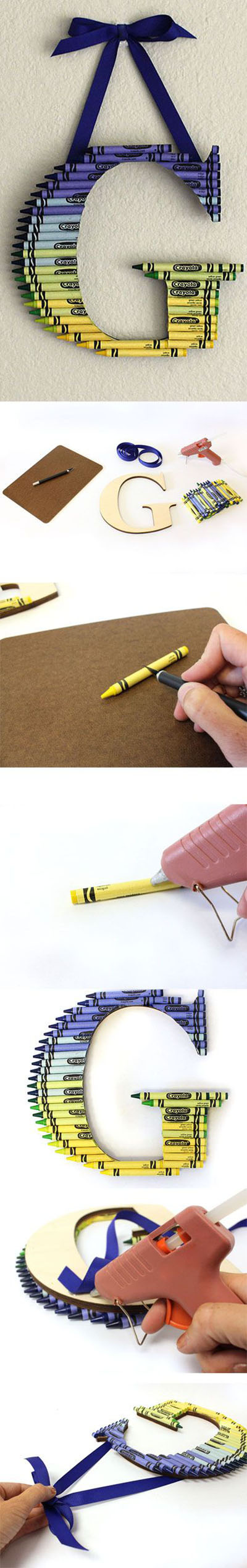 11 How to Create a Ombre Crayon Letter e06c535d7