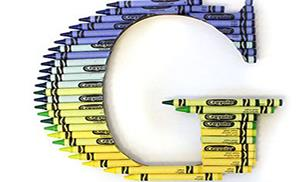 How to Create a Ombre Crayon Letter