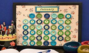 Diy button calendar