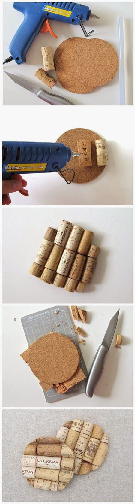 12 DIY WINE CORK COASTERS cf0970