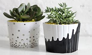 Diy Drip and Dot Pot