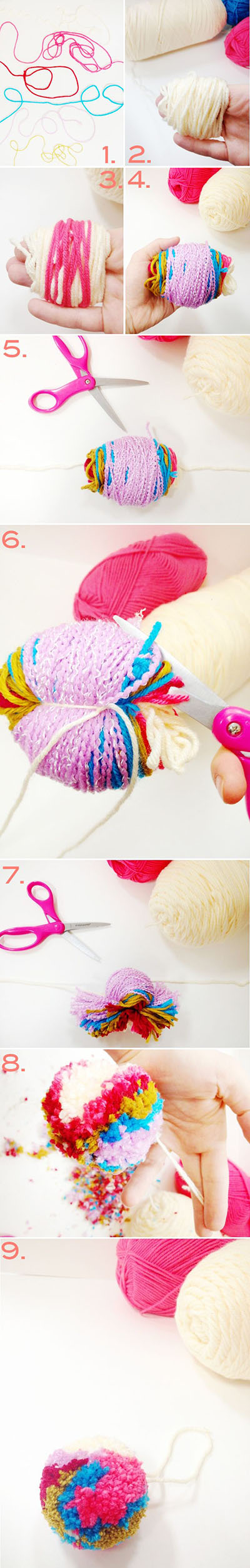 12  colorful yarn pom pomcdf9