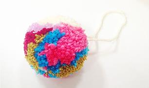 Diy Colorful Yarn Pom Pom
