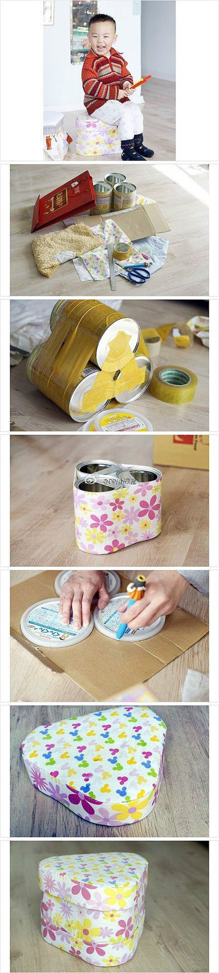 13  Cute recycling idea for tin cans.59f5bbd