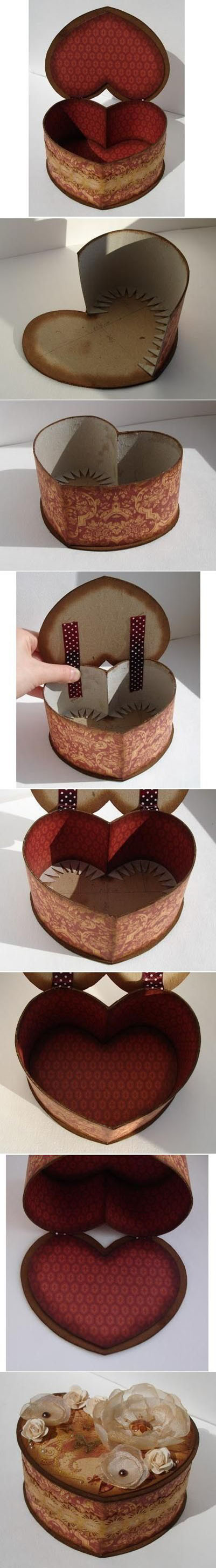 13  DIY Cardboard Heart Shaped Boxa0df