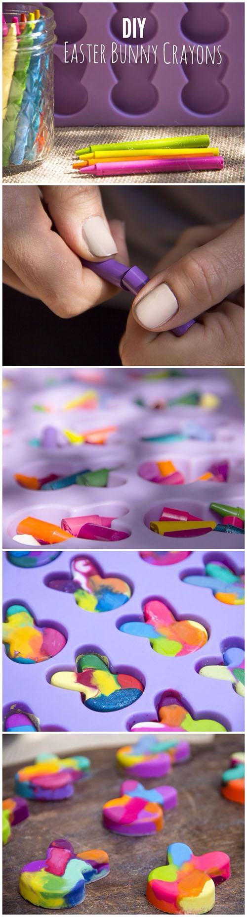 13 DIY Easter Bunny Crayons b1b47f