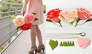 DIY Giant Crepe Paper Rose