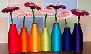 DIY Yarn Spring Vase