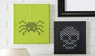 How to Cross Stitch on Canvas