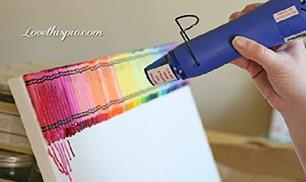 Crayon Melt Art