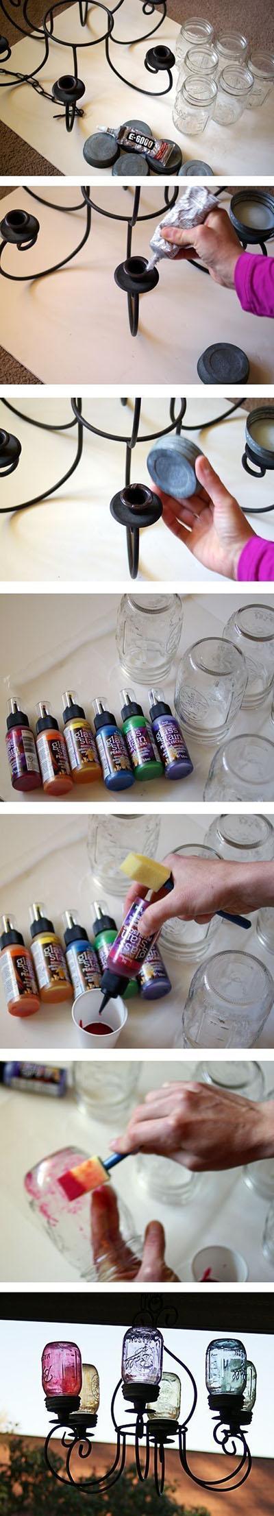 15 DIY Mason Jars Chandelier c12fdf0