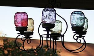 DIY Mason Jars Chandelier