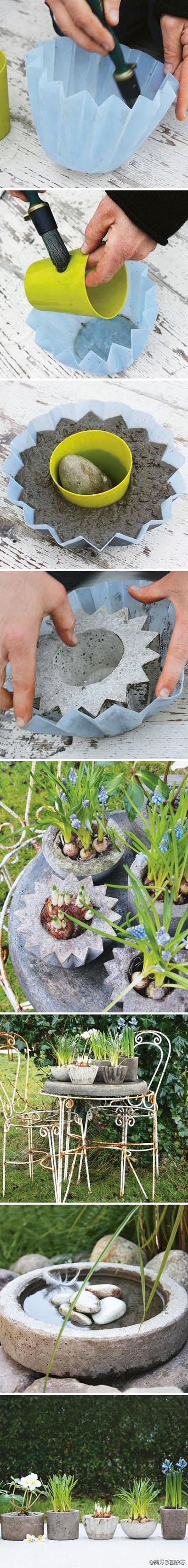15  DIY concrete mini planters0693b