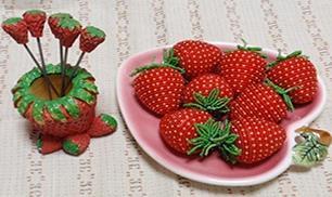 DIY Beads Strawberry Ornament