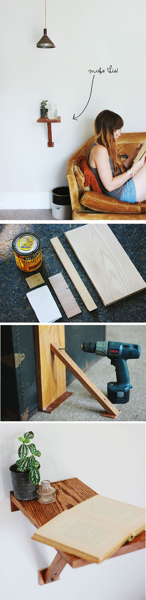 16  DIY Wall Mount Side Table d5d0
