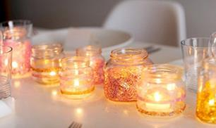 DIY jars,inexpensive way to dress up your table
