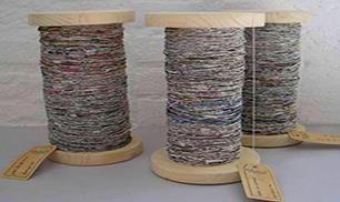 Handspun Recycled Newspaper Yarn