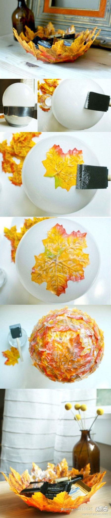 17 A lovely bowl made using colourful autumn leaves1d581548