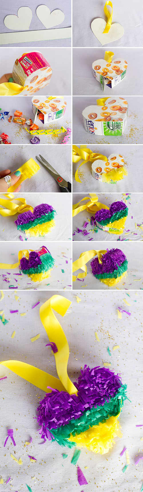 17 DIY How To Make Mini Heart Piñatas ea556ba