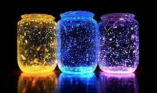 DIY Luminous Glass