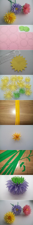 17  DIY Paper Asters Flowerd02da61