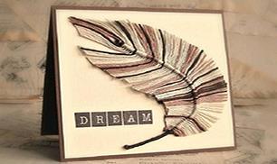 DIY Handmade Yarn Feather