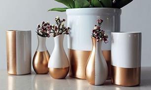 DIY Gold Dipped Ceramics