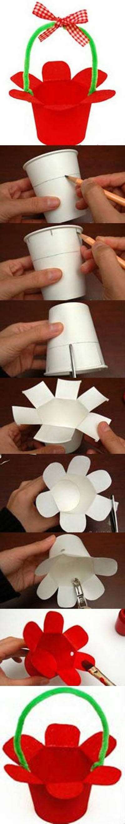 19  DIY Paper Cup Basket6d3
