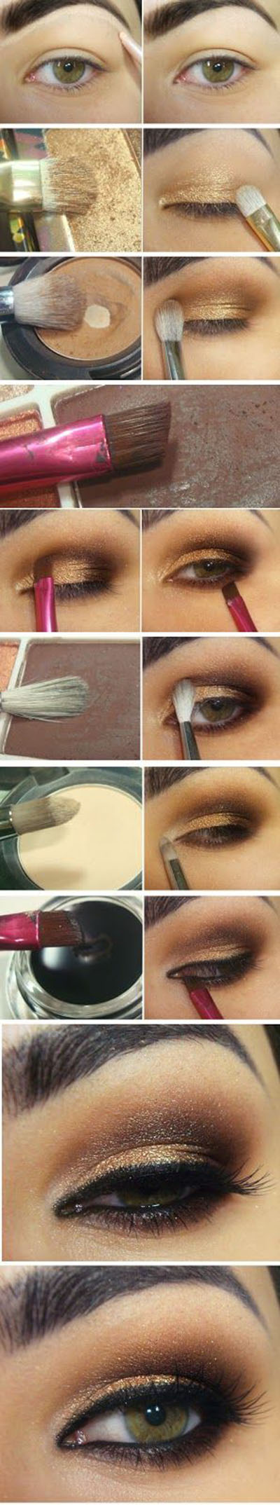 19  Gold and Brown Inspired Makeup Tutorials46f32187e