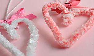 How to Make Borax Crystals in the heart shape