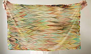 Make Your Own Marbled Scarf